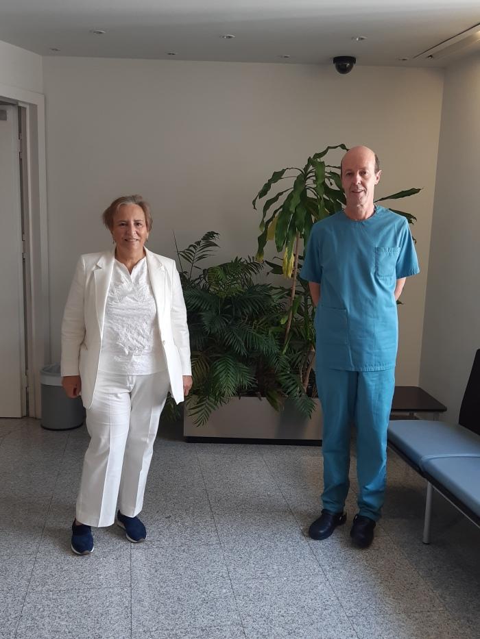 Con el Dr.Prósper en la Clinica Universidad de Navarra